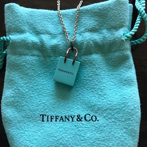 9fe0f9be6e Tiffany & Co.® Shopping Bag charm & chain necklace.  M_5a9339995521be72e30343de
